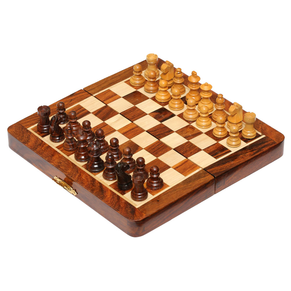 7in Sheesham Magnetic Chess Set
